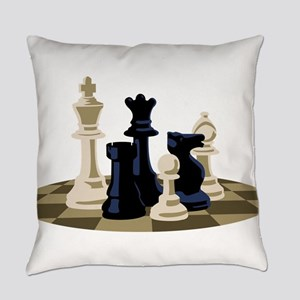 Chess Pieces Game Everyday Pillow