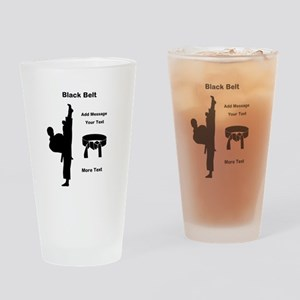 Black Belt Drinking Glass