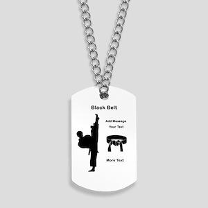 Black Belt Dog Tags