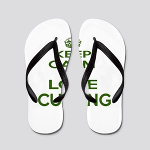 Keep calm and love Curling Flip Flops