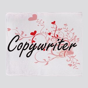 Copywriter Artistic Job Design with Throw Blanket