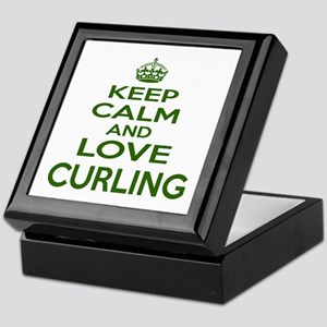 Keep calm and love Curling Keepsake Box