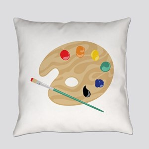 Painters Palette Everyday Pillow