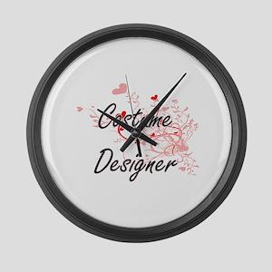 Costume Designer Artistic Job Des Large Wall Clock