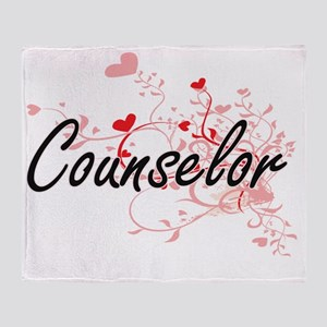 Counselor Artistic Job Design with H Throw Blanket