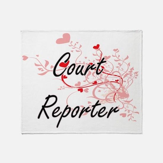 Cute Court reporter Throw Blanket