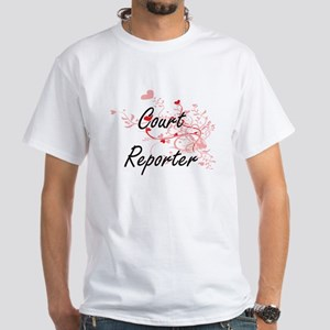 Court Reporter Artistic Job Design with He T-Shirt