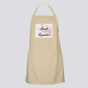 Court Reporter Artistic Job Design with Hear Apron