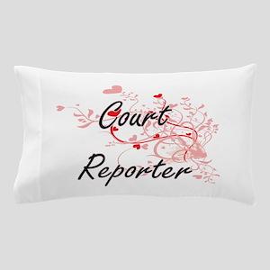 Court Reporter Artistic Job Design wit Pillow Case