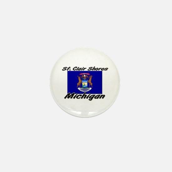 St. Clair Shores Michigan Mini Button