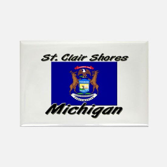 St. Clair Shores Michigan Rectangle Magnet