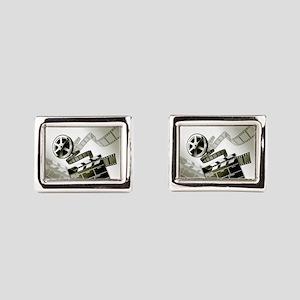 Retro Film Frames Rectangular Cufflinks
