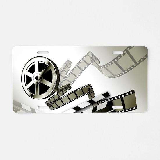 Retro Film Frames Aluminum License Plate