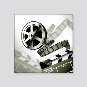 "Retro Film Frames Square Sticker 3"" x 3"""