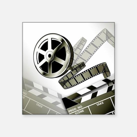 """Retro Film Frames Square Sticker 3"""" x 3"""""""