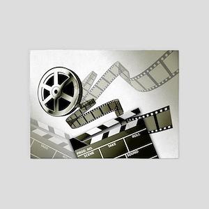 Retro Film Frames 5'x7'Area Rug