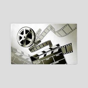 Retro Film Frames Area Rug