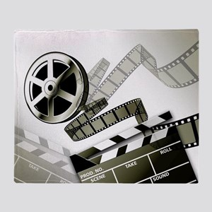 Retro Film Frames Throw Blanket
