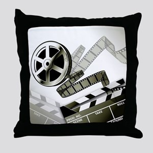 Retro Film Frames Throw Pillow