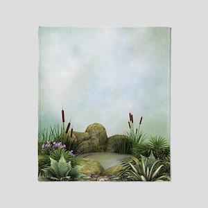 Pretty Pond Throw Blanket