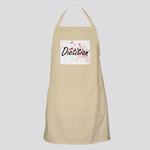 Dietitian Artistic Job Design with Hearts Apron
