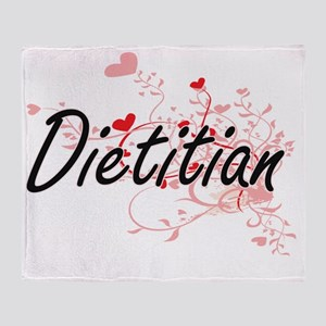 Dietitian Artistic Job Design with H Throw Blanket