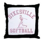 Dykesville Softball Throw Pillow