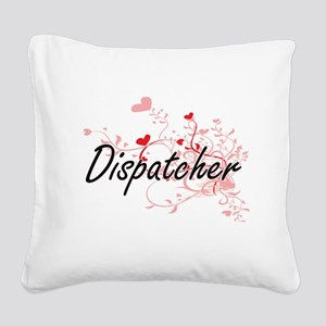Dispatcher Artistic Job Desig Square Canvas Pillow