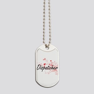 Dispatcher Artistic Job Design with Heart Dog Tags
