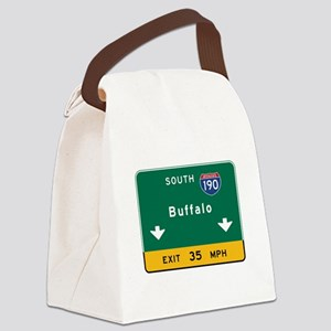 Buffalo, NY Road Sign, USA Canvas Lunch Bag