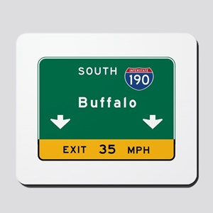 Buffalo, NY Road Sign, USA Mousepad