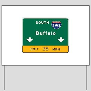 Buffalo, NY Road Sign, USA Yard Sign