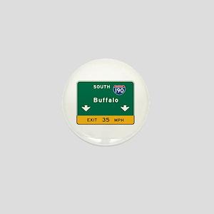 Buffalo, NY Road Sign, USA Mini Button
