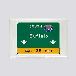 Buffalo, NY Road Sign, USA Rectangle Magnet