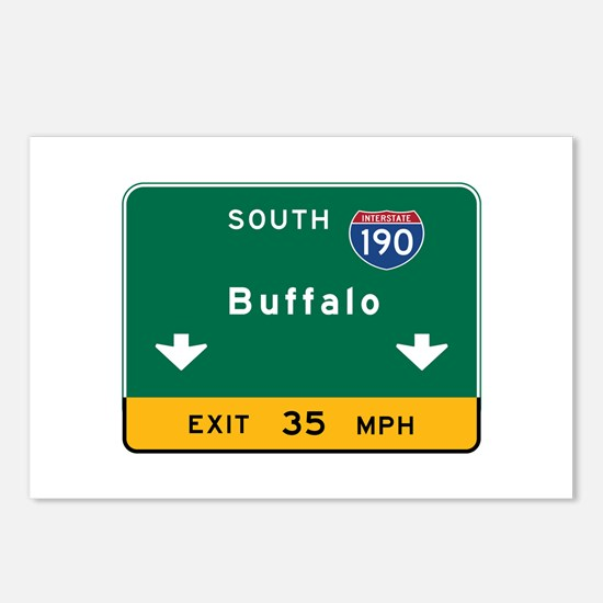 Buffalo, NY Road Sign, US Postcards (Package of 8)