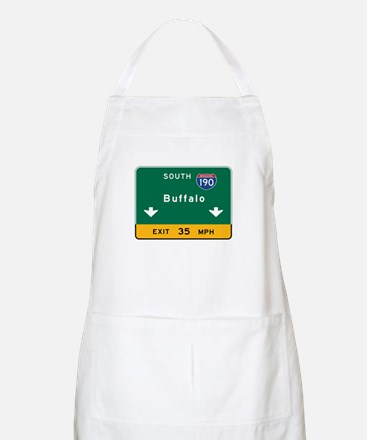 Buffalo, NY Road Sign, USA Apron