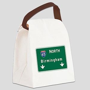 Birmingham, AL Road Sign, USA Canvas Lunch Bag