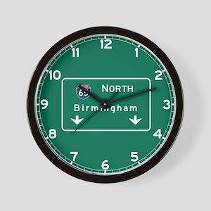 Birmingham, AL Road Sign, USA Wall Clock