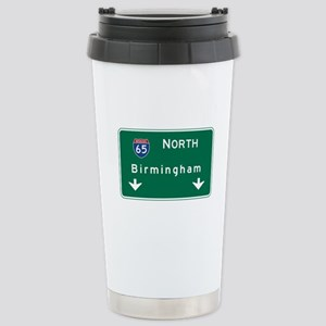 Birmingham, AL Road Sig Stainless Steel Travel Mug