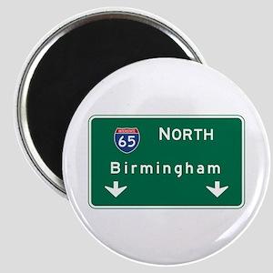 Birmingham, AL Road Sign, USA Magnet
