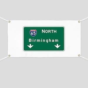 Birmingham, AL Road Sign, USA Banner