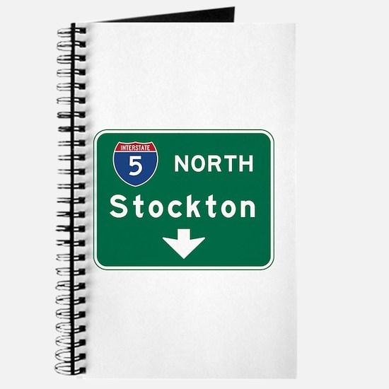 Stockton, CA Road Sign, USA Journal