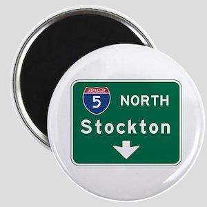 Stockton, CA Road Sign, USA Magnet