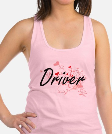 Driver Artistic Job Design with Racerback Tank Top