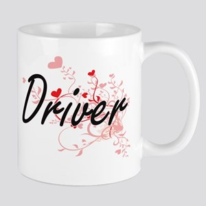 Driver Artistic Job Design with Hearts Mugs