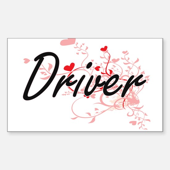 Driver Artistic Job Design with Hearts Decal