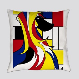 Geometric Afghan Hound Abstract Everyday Pillow