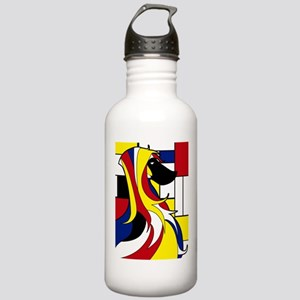 Geometric Afghan Hound Abstract Water Bottle