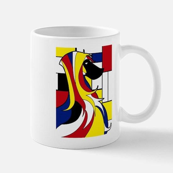 Geometric Afghan Hound Abstract Mugs