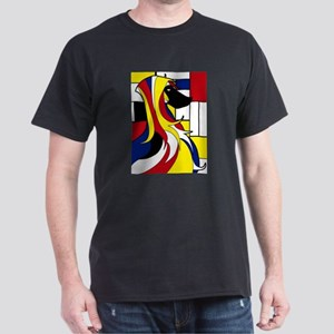 Geometric Afghan Hound Abstract T-Shirt